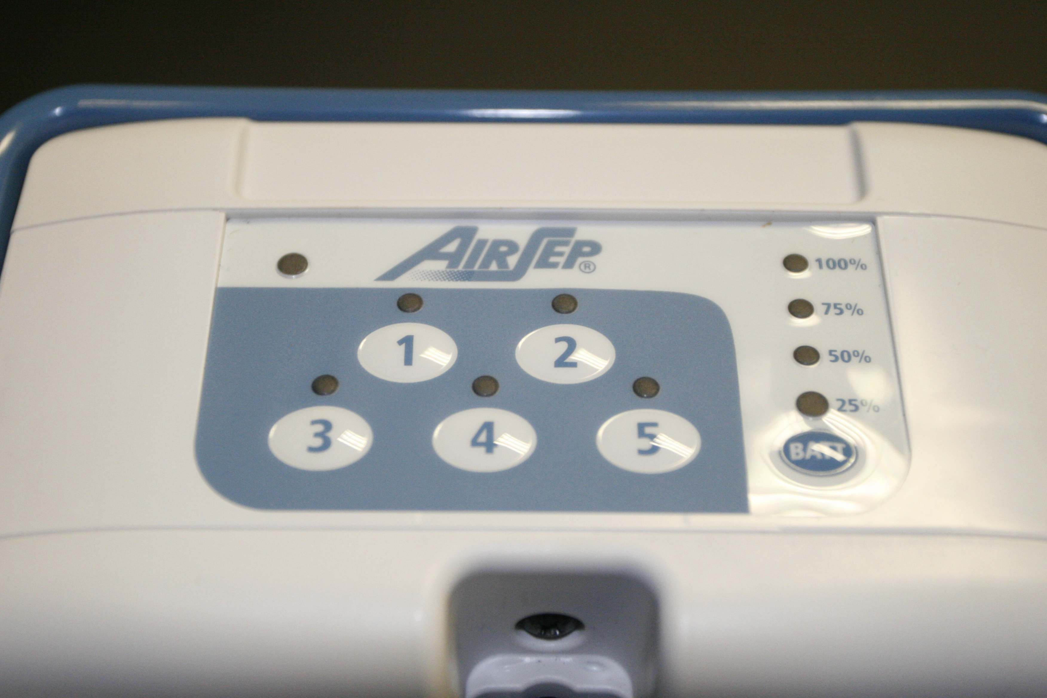 AirSep FreeStyle 5 Control Panel