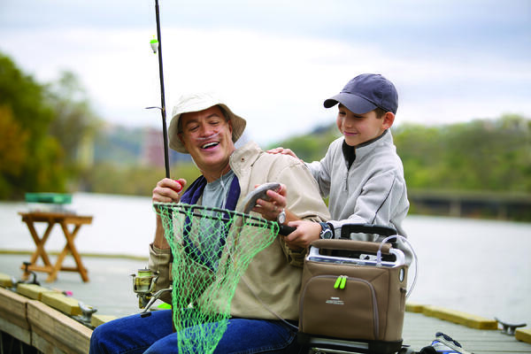 SimplyGo Fishing with Grandson