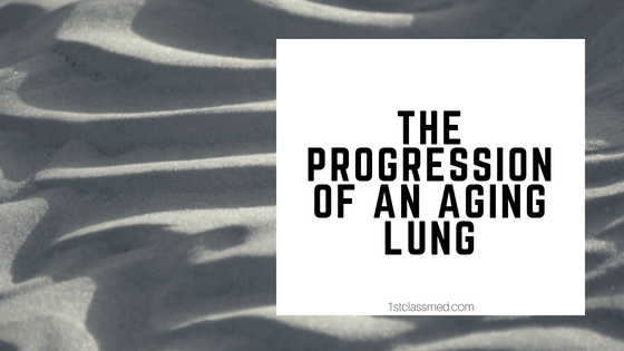 the progression of an aging lung