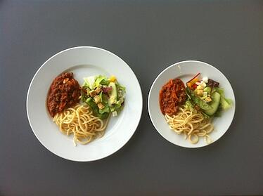 Small Plate for Portion Control