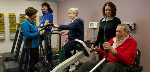 Exercising at Pulmonary Rehab