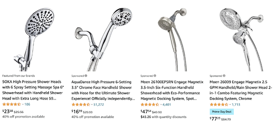 Removable Showerhead