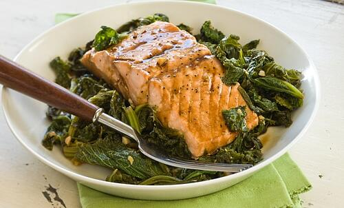 Salmon and Collard Greens
