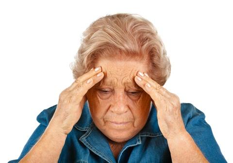 senior woman having an anxiety attack