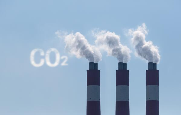 CO2 pollution from coal burning