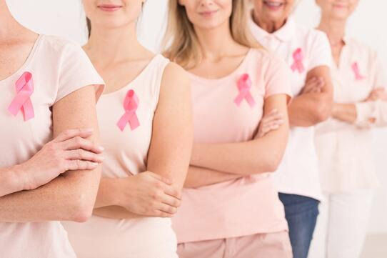 women supporting each other for breast cancer