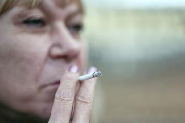 older woman smoking
