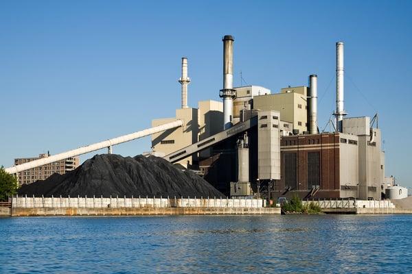 energy plant burning coal