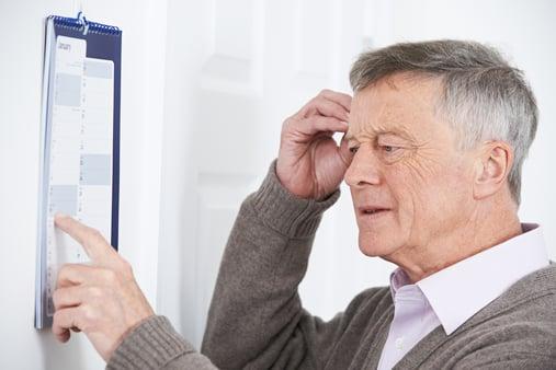 older gentleman struggling to remember