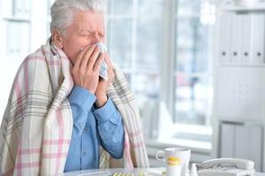 elderly man sick