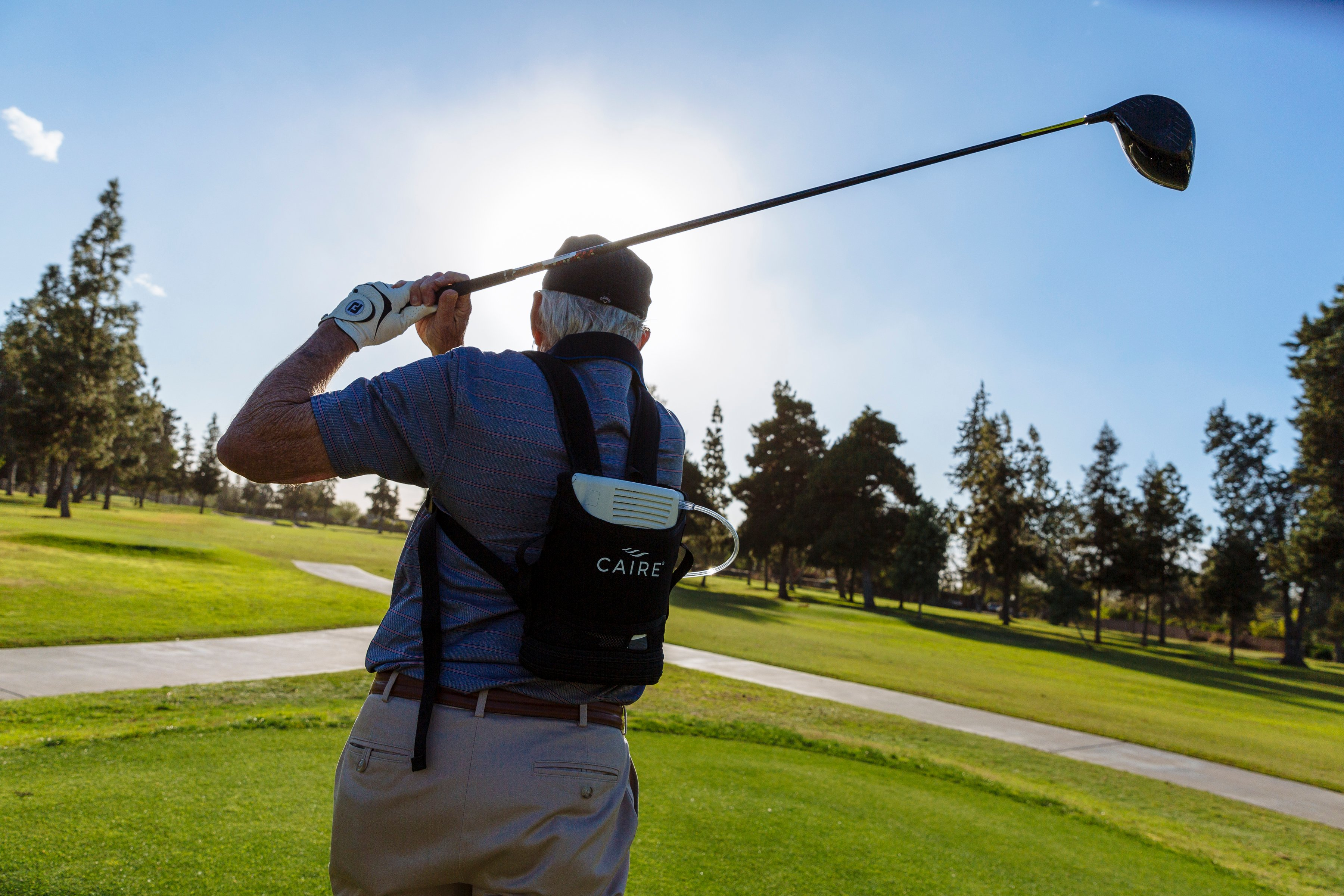Golfing with the Caire Freestyle Comfort Portable Oxygen Concentrator